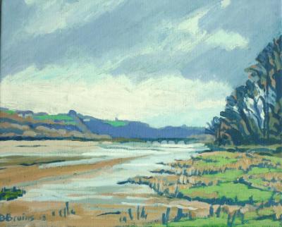 The tidal river Torridge upstream from Bideford
