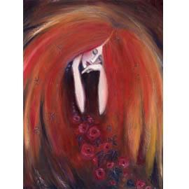 """Autumn Angel"" goddess of Fall note card"