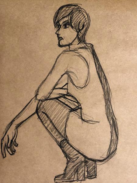 Rachael, Mod, Crouching Gesture
