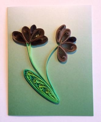 The Pastel Series Green Handmade Quilling Greeting Card