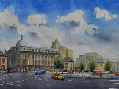 PIATA ROMANA - Bucharest, 35cm x 50cm, 2019