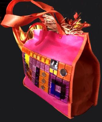 back of embellished tote bag