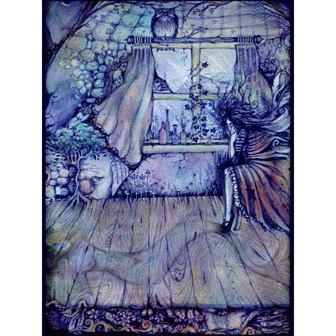 Francesca's Room art print from original symbolist painting
