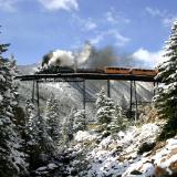 Steam Engine on the High Bridge