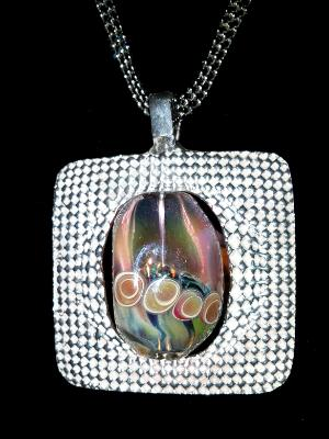 Lampwork Glass and Sterling
