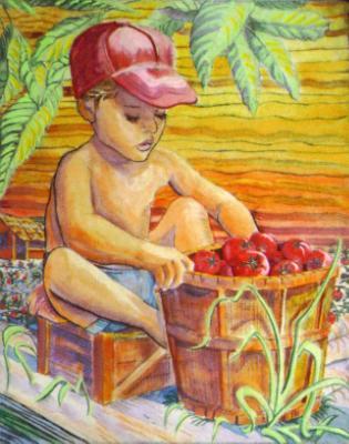 Drypoint-Child Laborer
