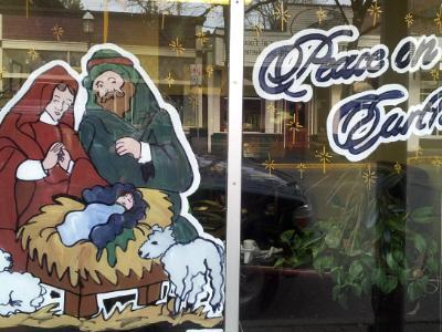 Nativity, peace on earth