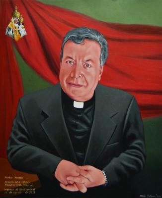 Oil portrait of Father JESUS PALOMINO, 50cm x 60cm, 2016