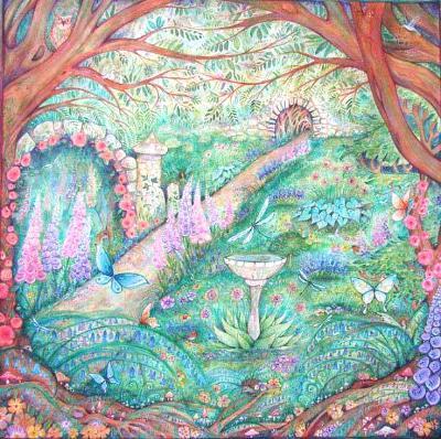The Secret Garden art print from an original painting