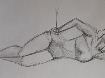 Female Clothed Reclining Gesture