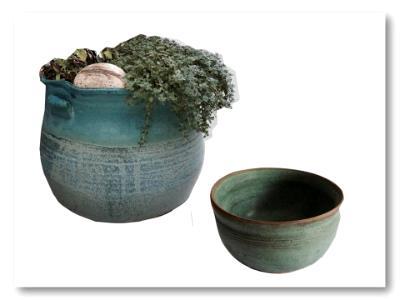 Weathered Bronze Herb Pots