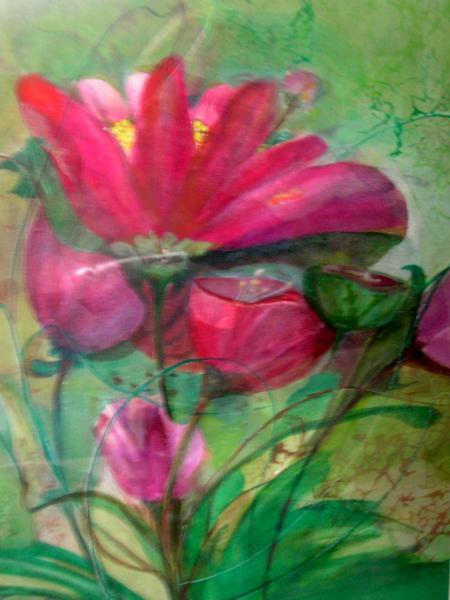 The Color Purple - Watercolor on paper 20x16