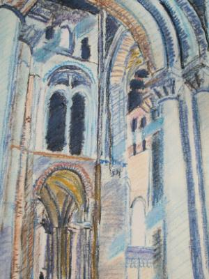 In Romsey Abbey