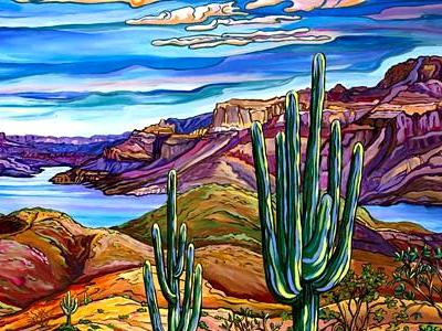 Alexandria Winslow- Contemporary Southwest Artist - Vibrant and Contemporary Desert Landscape