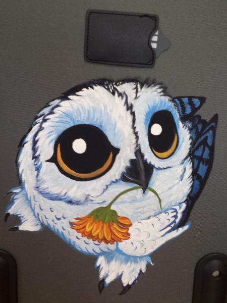 owl suitcase