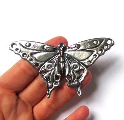 Butterfly Brooch Art Nouveau original artistisan design pewter butterfly pin