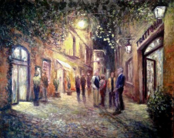 Nighttime in Trastevere(Rome) - SOLD