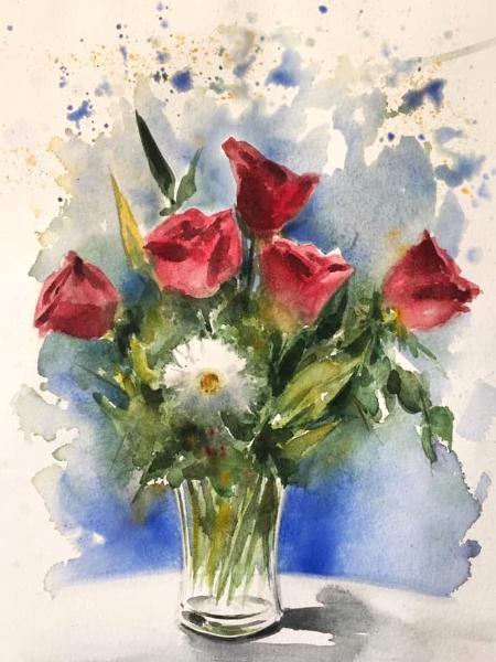 Bouquet of flowers, 30cm x 20cm, 2019